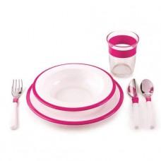 OXO Tot barnset rosa 6-delar